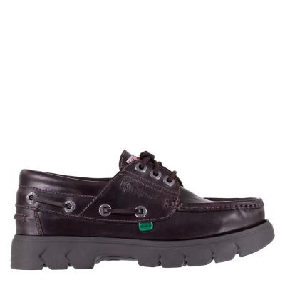 Pantofi barca Kickers Lennon piele maro