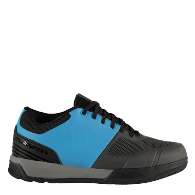 Pantofi ciclism Muddyfox Flat 100 pentru Barbati gri albastru