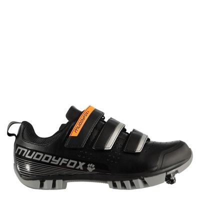 Pantofi ciclism Muddyfox MTB100 pentru copii negru gri