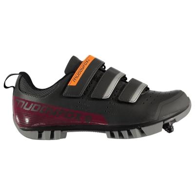 Pantofi ciclism Muddyfox MTB100 pentru Femei gri roz inchis