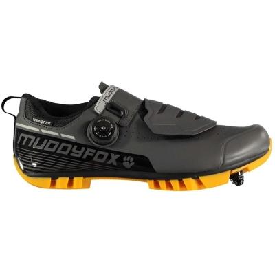 Pantofi ciclism Muddyfox MTB300 pentru Barbati gri portocaliu