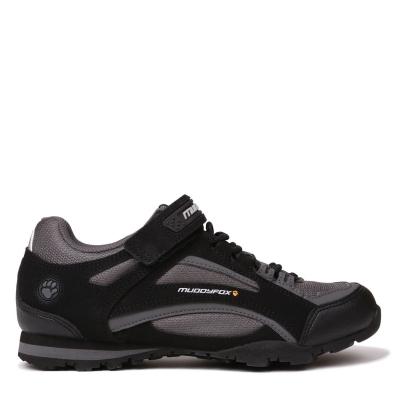 Pantofi ciclism Muddyfox TOUR100 Low pentru copii negru gri carbune