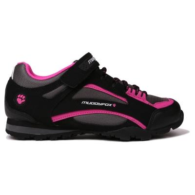 Pantofi ciclism Muddyfox TOUR100 Low pentru Femei negru char roz