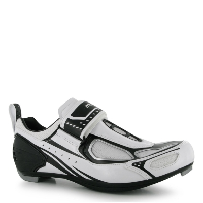 Pantofi ciclism Muddyfox TRI100 pentru Barbati alb negru