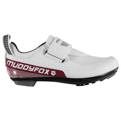Pantofi ciclism Muddyfox TRI100 pentru Femei alb roz inchis