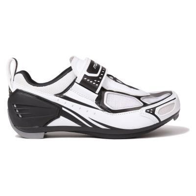 Pantofi ciclism Muddyfox TRI 100 pentru copii alb negru