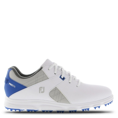 Pantofi de Golf Footjoy pentru copii alb albastru