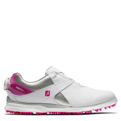 Pantofi de Golf Footjoy Pro SL BOA pentru Femei alb
