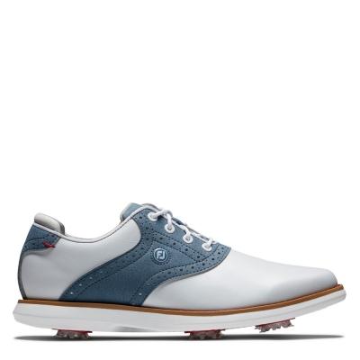 Pantofi de Golf Footjoy Traditions pentru Femei alb albastru