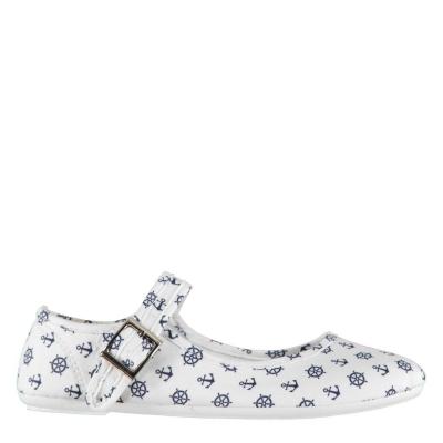 Pantofi din panza cu bareta Slazenger Shoes pentru Femei alb