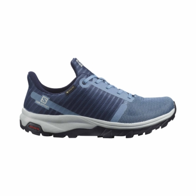 Pantofi Drumetie Femei Salomon OUTBOUND PRISM GTX W Albastru