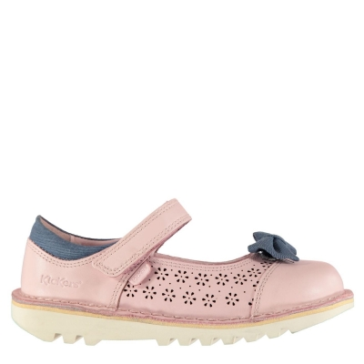 Pantofi Kickers Kickers Bowtie 2 Child pentru fete roz