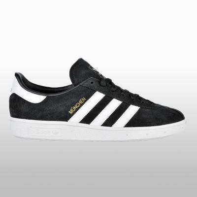 Pantofi sport piele adidas Munchen CQ2322 Barbati negru alb