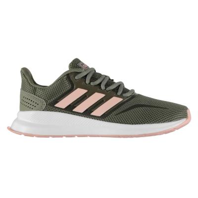 Adidasi sport adidas Runfalcon pentru Femei kaki roz alb