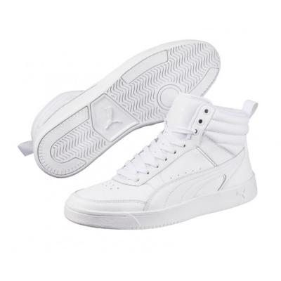 Pantofi sport piele albi Puma Rebound Street V2 363716-02 Barbati