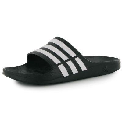 adidas Duramo Sliders pentru Barbati negru alb