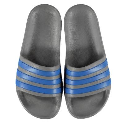 Papuci adidas Duramo Slide pentru baieti gri albastru