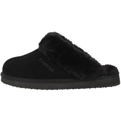 Papuci de Casa Firetrap Mule pentru Femei negru