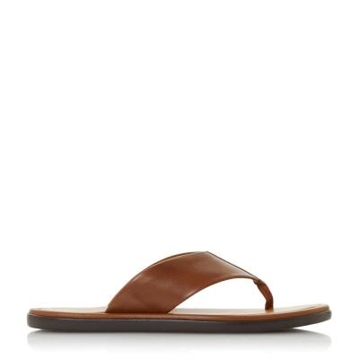 Papuci de plaja Dune London Fizz bej piele