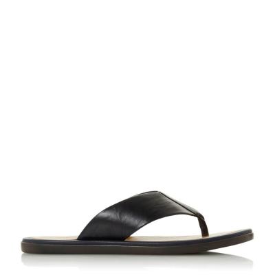 Papuci de plaja Dune London Fizz bleumarin piele