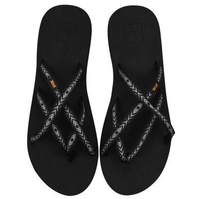 Papuci de plaja Teva Olowa pentru Femei negru gri