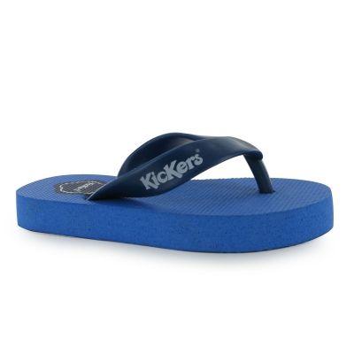 Papuci de plaja Kickers Big Lo pentru copii albastru