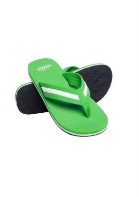 Papuci de plaja verde deschis-alb Urban Classics