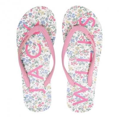 Papuci de plaja Jack Wills Elland alb floral