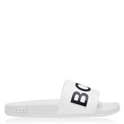 Papuci plaja Boss Bay alb negru