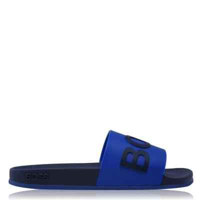 Papuci plaja Boss Bay albastru bleumarin
