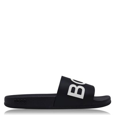 Papuci plaja Boss Bay negru alb