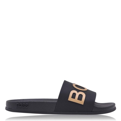 Papuci plaja Boss Bay negru auriu
