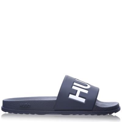 Papuci plaja HUGO Match inchis albastru