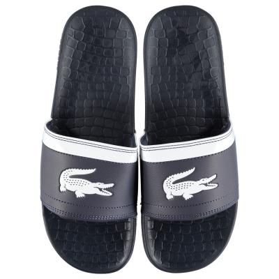Papuci plaja Lacoste Fraiser bleumarin alb