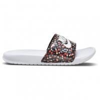Papuci plaja Nike Benassi Print pentru Femei alb negru