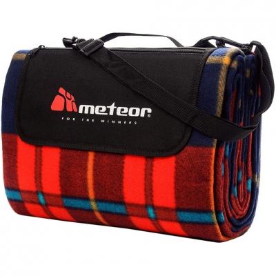 Patura pentru picnic Meteor Blanket 180x200cm XL rosu Checkerosu 77107