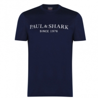 Tricouri Tricou cu logo Paul And Shark - bleumarin