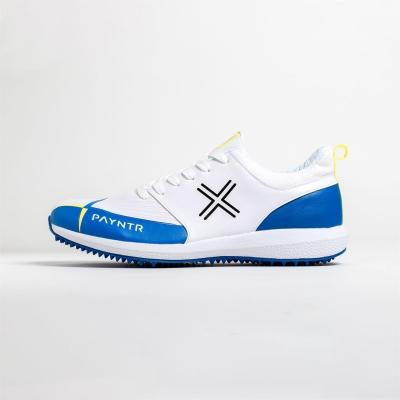 Adidasi cricket Payntr V Pimple alb albastru