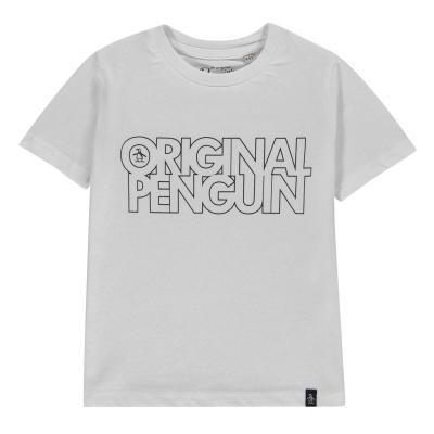 Penguin cu maneca scurta Tee INFBBX11 alb