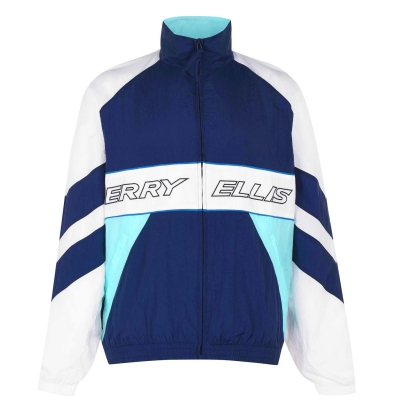 Bluza de trening Perry Ellis nailon albastru