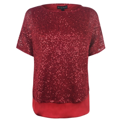 Phase Eight Sequin tricot rosu