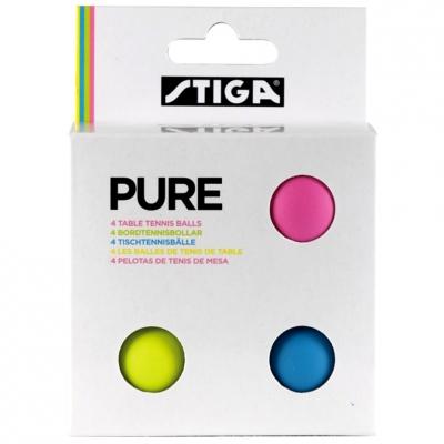 Set 4 Mingi de ping pong STIGA PURE color