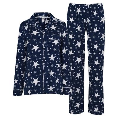 Pijamale Chelsea Peers Star Print bleumarin alb