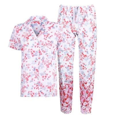 Pijamale Nora Rose Floral Print roz