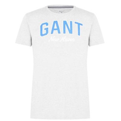 Pijamale Tricou Gant Logo gri