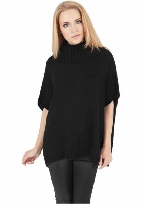 Poncho tricotat dama negru Urban Classics