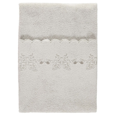 Prosop Linens and Lace Scalloped Embroidery Bath Sheet