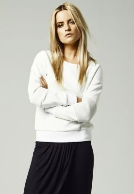 Bluze dama cu plasa la maneci alb murdar Urban Classics