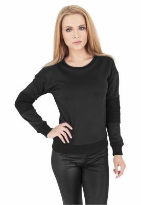 Bluze dama cu plasa la maneci negru Urban Classics