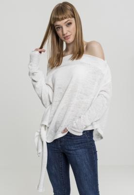 Pulover asimetric pentru Femei alb Urban Classics